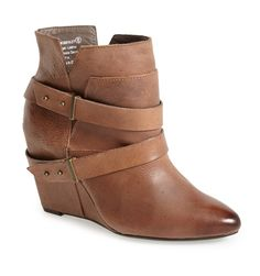 strap wedge bootie