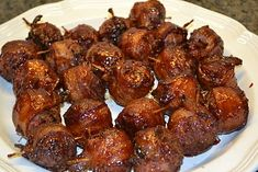 Ks State Fair Moink Balls - Italian meatballs wrapped in bacon!  To die for!!!
