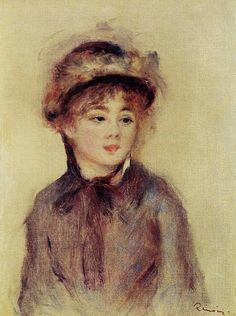 Bust of a Woman Wearing a Hat. Pierre-Auguste Renoir (1841 - 1919)