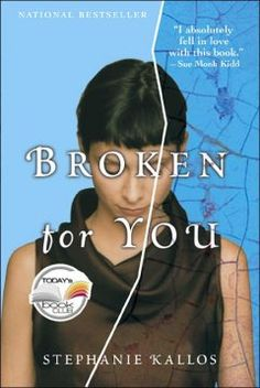 """Saturday Samplers book group will discuss """"Broken for You"""" by Stephanie Kallos on Saturday, June 2nd, in the library at 3:30 p.m."""