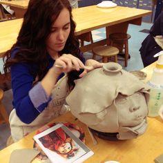 Student Teaching 101: Art Edu: January 2013 portrait vessel