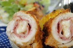 Kuřecí rolky Cordon Bleu z trouby Poultry, Sushi, Shrimp, Chicken, Ethnic Recipes, Fit, Fine Dining, Backyard Chickens, Buffalo Chicken