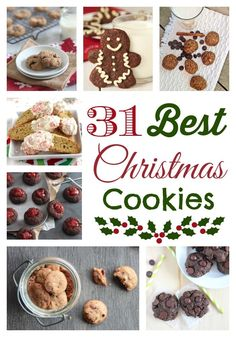 31 Healthier Cookie Recipes (Christmas Cookies That Arent Just For Christmas!) Easy cookie recipes your whole family will love! Perfect Christmas cookies for holiday baking but delicious (and healthy!) enough to bake year-round! Healthy Christmas Cookies, Easy Christmas Cookie Recipes, Christmas Cookie Exchange, Holiday Snacks, Christmas Sweets, Holiday Cookies, Holiday Recipes, Xmas, Christmas Plates