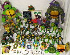 Teenage Mutant Ninja Turtles TMNT Large Lot Figures VHS Plush More | eBay
