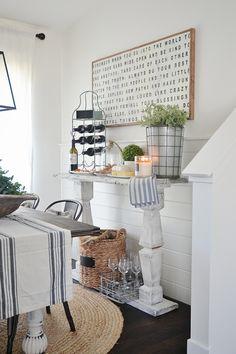 Farmhouse dining room console table DIY