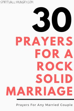 A great tool for any marriage is prayer. We all need Jesus and so do our marriages. Here's 30 prayers, right in the post, to help you with your marriage. via @alexiswaid