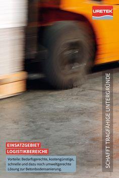 #Betonboden-Sanierung und #Fugenstabilisierung #Logistik #URETEK #Floor-Lift