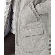 Coat Pattern Sewing, Coat Patterns, Skirt Patterns, Pattern Drafting, Blouse Patterns, Clothes Patterns, Fur Trim Coat, Wool Coat, Simplicity Sewing Patterns
