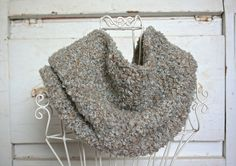 Soft and Luxurious Grey Mix Cowl Scarf - Winter Wear - Men, Women and Teens  $25.00 thecraftstar, winter scarf, warm scarf, grey cowl, grey scarf, handmade scarf, unique gift, holiday gift