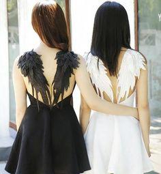 ワンピース 日本未入荷!かわいい天使のつばさフレアワンピース全2色(18)