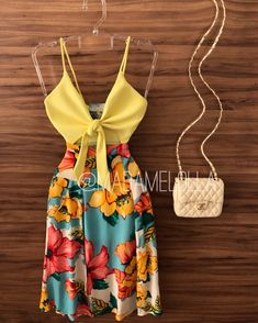 Sexy Summer Dresses, Cute Dresses, Summer Outfits, Fashion 101, Fashion Outfits, Vestidos Chiffon, Outfits For Teens, New Outfits, Two Piece Dress