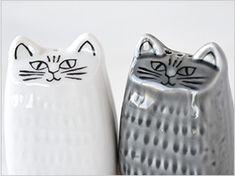 Lisa Larson Japan Series Cat Salt & Pepper
