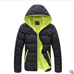 4XL Men Winter Casual New Hooded Thick Padded Jacket Zipper Slim Men And Women Coats Men Parka Outwear Warm