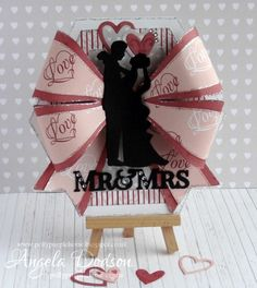 Gorgeous Wedding card using the Simply Creative Made With Love paper pad by Angela