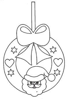 plantillas de navidad | Plantillas navideñas para colorear de Bolas de Navidad