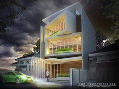 Transformasi desain kantor dengan memutar bidang dinding ~ lingkar warna indonesia