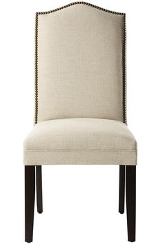 "Custom Camel-Back Parsons Chair with Nailhead Trim - Home Decorators  19.75"" W x 18""D x 40.5""H  $199"