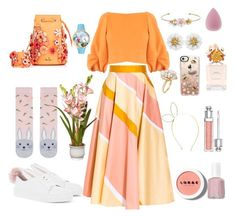 """Happy Easter!"" by xenia-fashionista ❤ liked on Polyvore featuring Minna Parikka, Charlotte Russe, Accessorize, Roksanda, Marina Hoermanseder, TIBI, Whimsical Watches, Marc Jacobs, Christian Dior and Essie"