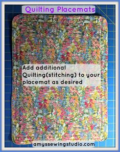 Beginners Tutorial For Easy to Sew Placemats Baby Sewing Projects, Sewing Projects For Beginners, Sewing Tutorials, Sewing Patterns, Sewing Ideas, Diy Projects, Sewing Courses, Christmas Placemats, Place Mats Quilted