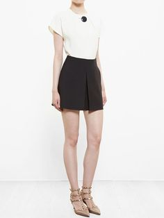 Valentino Pleat Detail Shorts - Browns - Farfetch.com