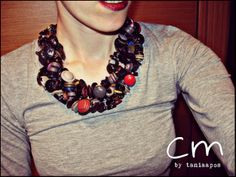 buttons handmade necklace!!!!