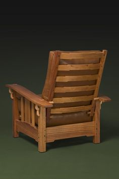 The Greene and Greene Lounge chair reclines in four positions. It is shown in mahogany with ebony accents, hand carved corbels and through tenon joine… Arts And Crafts Furniture, Green Furniture, Timber Furniture, Pallet Furniture, Furniture Design, Craftsman Style Furniture, Mission Style Furniture, Best Online Furniture Stores, Morris Chair