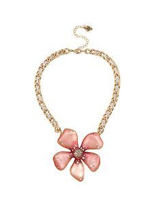 LUMINOUS BETSEY PINK FLOWER PENDANT
