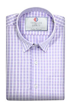 Varick Lavender pink checks - ₹2,260/-  A beautiful business check specially designed in Turkey. The subtle broadcloth effect gives this classy pattern great detail that gets more visible the closer you get to it. #Business #Casual #Shirt #Shirts #Corporate #Fabrics #Luxury#Handcrafted #Custommade #Fashion #Style #Custom #Checks #Solids #Pastels #Checkered #Fun#Quirky #Men #Women #MenFashion #WomenFashion
