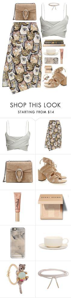 """""""Untitled #1437"""" by timeak ❤ liked on Polyvore featuring STELLA McCARTNEY, Gucci, Senso, Too Faced Cosmetics, Bobbi Brown Cosmetics, Casetify, Jansen+Co, Les Néréides and Humble Chic"""
