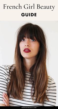 French Girl Beauty tips to enhance your natural glow. Get the effortless chic French beauty look without a ton of makeup or new products! Natural Hair Mask, Natural Hair Styles, Long Hair Styles, Natural Beauty, Beauty Guide, Beauty Hacks, Beauty Care, Skin Tag Removal, French Girls