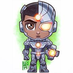 Chibi cyborg by lordmesa Chibi Characters, Comic Book Characters, Comic Character, Comic Books Art, Comic Art, Cartoon Drawings, Cartoon Art, Cute Cartoon, Cute Drawings