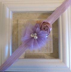 Lavender Newborn Headband by MiyahsCloset on Etsy, $8.00