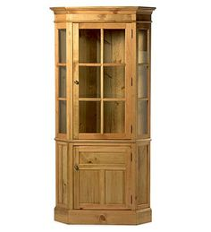 Glass-Front Corner Cupboard in Cottage White or Antique black ($1400)