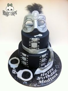 50 Shades of Grey Cake by Corpse-Queen.deviantart.com on @DeviantArt