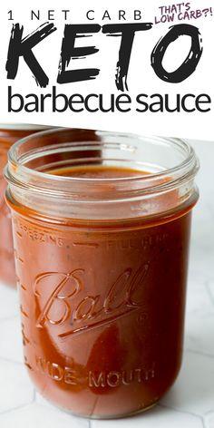 Keto Sauces, Low Carb Sauces, Low Carb Recipes, Ketogenic Recipes, Low Carb Keto, Easy Recipes, Easy Meals, Low Carb Bbq Sauce, Sugar Free Barbecue Sauce