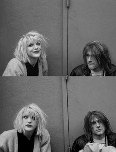 Courtney Love + Kurt Cobain