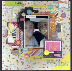 Bring It On - Scrapbook.com - Made with Simple Stories DIY collection.