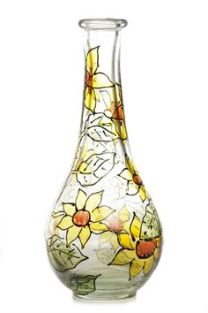This is a guide about glass painting craft project ideas. An attractive way to decorate a bottle or jar is by painting it.