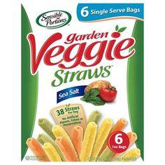 Sensible Portions Sea Salt Garden Veggie Straws, 1 oz, 6 count