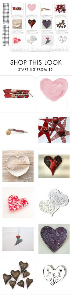 """Hearts++"" by keepsakedesignbycmm ❤ liked on Polyvore featuring French Country, hearts, jewelry, accessories, homedecor and gifts"