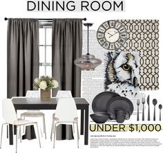 """Dining Room on a Budget"" by bamaannie on Polyvore"
