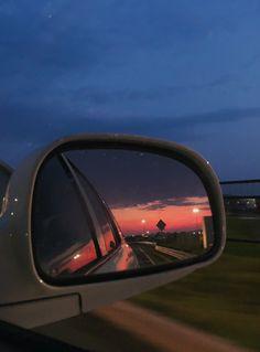Car Mirror, Sunrise, Photos, Pictures, Sunrises
