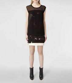 Womens Nisia Resonate Dress (Resonate) | ALLSAINTS.com