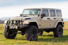 Don't miss the chance to own the VERY FIRST Mojave Sand Rubicon that we've built! This is a brand new color, and in our humble opinions, the best tan colors that Jeep has released! Tan Jeep Wrangler, Jeep Wrangler Rubicon Unlimited, Jeep Wrangler Unlimited, Aev Jeep, Jeep Truck, Jeep Wagoneer, Jeep Carros, Volkswagen, Jeep Brand