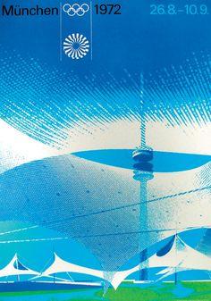 1972 Munich Olympic Games poster by Otl Aicher