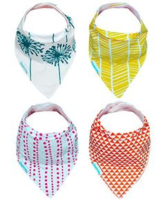 Protect your Babies cute wardrobe from Drool, Dribble and Mess. FREE gift bag included! Add Unique Style with Kaydee Baby Bandana Bibs! The Cutest and Best Baby Bib to Protect the investment of Your Baby Clothes - Perfect fit to protect clothes while also maintaining comfort and style! - Soaks up Drool and Dribble from Teething and Messy Babies, keeping it off the Clothes! - Added accessory to their already cute wardrobe. - Comfortable to be worn anywhere around town allowing your Baby to…