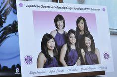 Japanese Queen Scholarship Organization of Washington 2012 - (L- R) Taryn Lee Imanishi, Sylvie Hana Shiosaki, Heidi Sachi Iha, Yuna Marie Nishimoto, Nicole Ruriko Lee — at Meydenbauer Center.