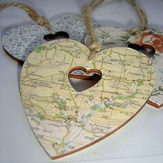Heart with where you got married...also do for first date and proposal
