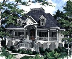 Southern style custom home plans