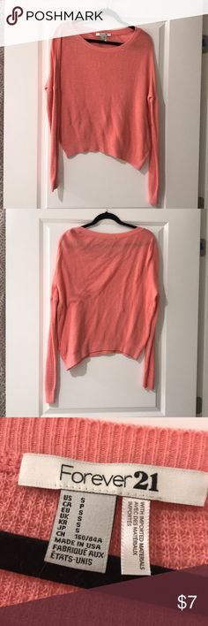 Waffle Knit Sweater Forever 21 pink waffle knit sweater. Good used condition. Size small. Forever 21 Sweaters